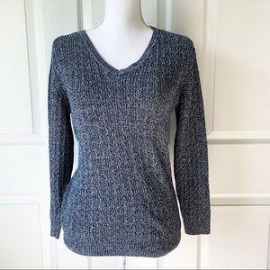 Karen Sxott Gray Sweater Size L